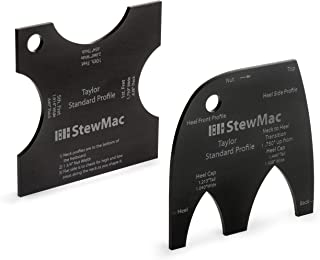 StewMac Neck Shaping Templates for Acoustic Guitar, for Taylor Standard Neck Profile