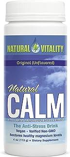 Natural Vitality Natural Calm Magnesium Anti Stress, Organic, Original Unflavored, 4oz