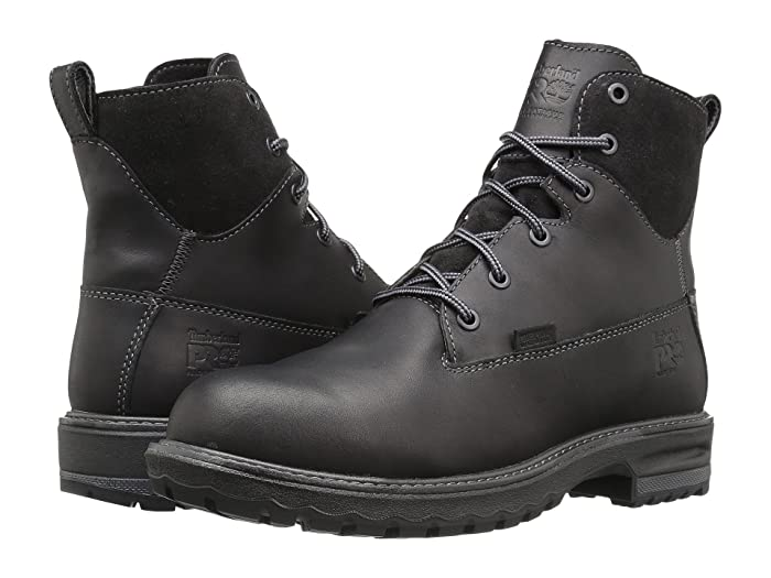 Timberland PRO  Hightower 6 Alloy Safety Toe Waterproof (Black Full Grain Leather) Womens Work Lace-up Boots