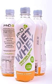 PhD Diet Whey Protein Water Orange & Mango, 500 ml
