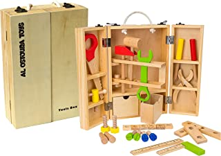 Al Ostoura Toys Wooden Tools Box Educational Wooden Toy