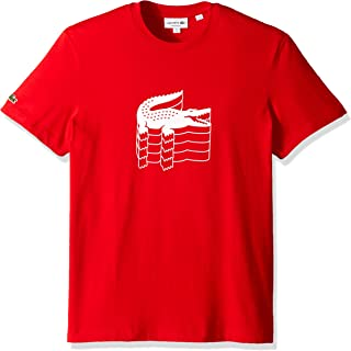 Lacoste Men's S/S Jersey Graphic T-Shirt Shirt, red, L