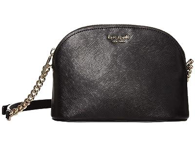 Kate Spade New York Spencer Small Dome Crossbody (Black) Handbags
