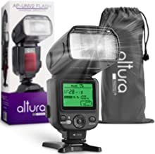 Altura Photo AP-UNV2 Camera Flash Light Speedlite with LCD Display for Canon Nikon Sony Panasonic Olympus Pentax DSLR and Mirrorless Cameras Featuring a Standard Hot Shoe