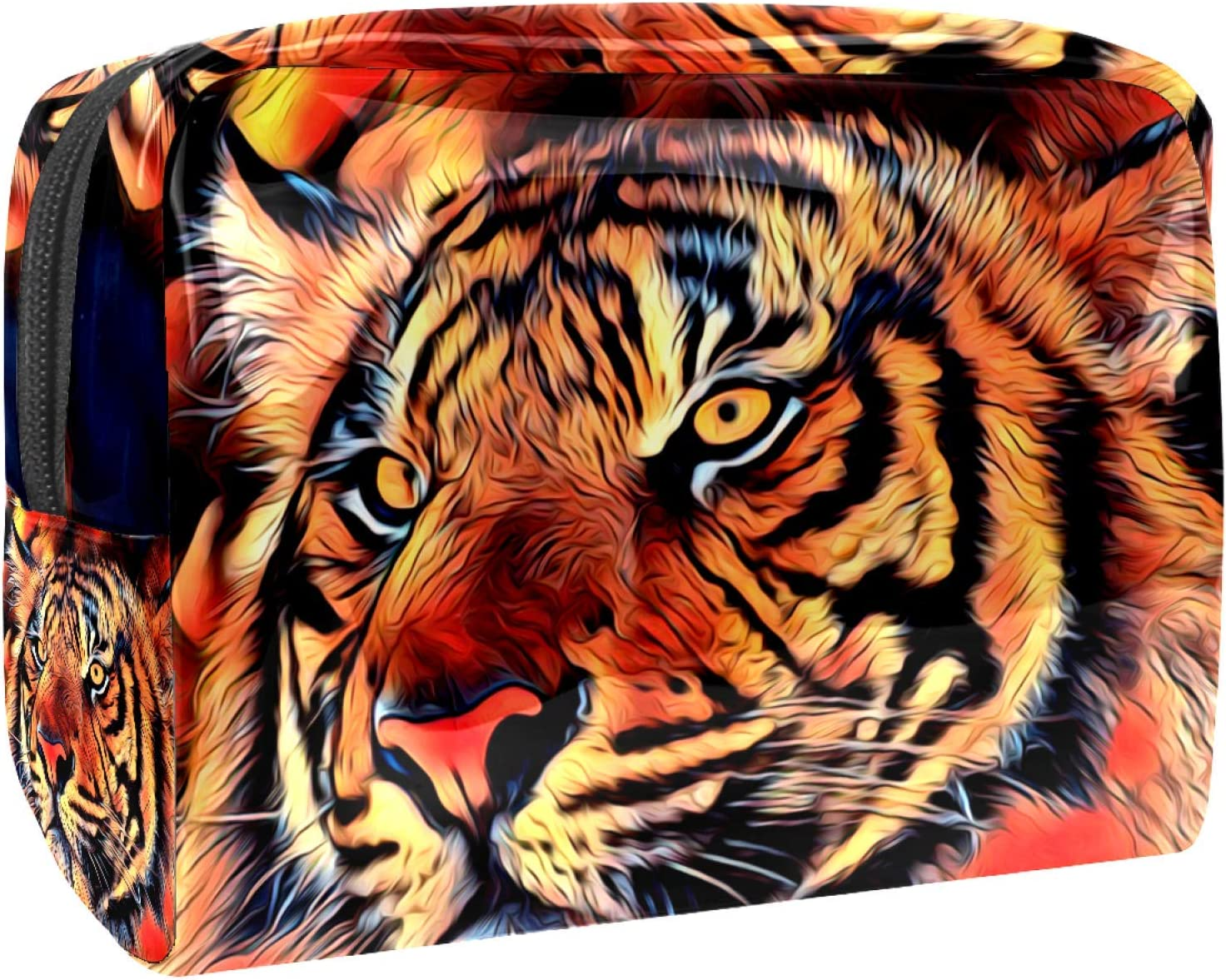 Cosmetic Max 78% OFF Bag San Jose Mall for Women Roomy Makeup tiger Trav 2 Painting Bags