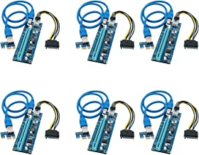 FebSmart PCI-E Riser for Bitcoin Litecoin ETH Coin Mining 6 PIN Powered PCIE Extension Cable GPU Riser Ethereum Mining ETH...