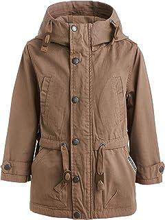 Parka para niño o otoño, chaqueta de entretiempo infantil, impermeable, con capucha, 98 – 128 cm, color marrón