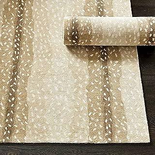 Wallard Design Antelope Animal Traditional Persian Handmade 100% Wool Rugs & Carpets (9'x12')