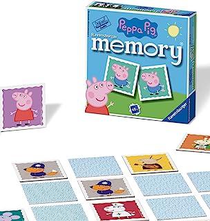 """Ravensburger Peppa Pig Mini Memory Game - Bijpassende Picture Snap Paren Game Voor Kinderen Leeftijd 3 Jaar en Up"""""""