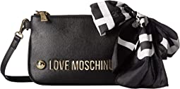 Shoulder Bag with Love Moschino Scarf