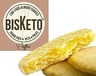 Low Carb Cookies BisKeto - Keto Snacks, Low Net Carbs, No Sugar, Gluten & Grain Free, Ketogenic Diet Friendly & Healthy Snack Food - Box with 6 Packs,12 Cookies (Coffee)