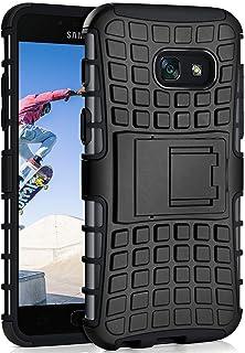 ONEFLOW Tank Case kompatibel mit Samsung Galaxy A5 (2017)   Hülle Outdoor stoßfest, Handyhülle mit Ständer, Handy Hardcase Panzerhülle, Schwarz