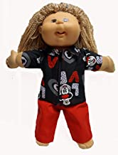 Doll Clothes Superstore Zipper Jacket with Pants with Love Mickey Print for Cabbage Patch and 15-16
