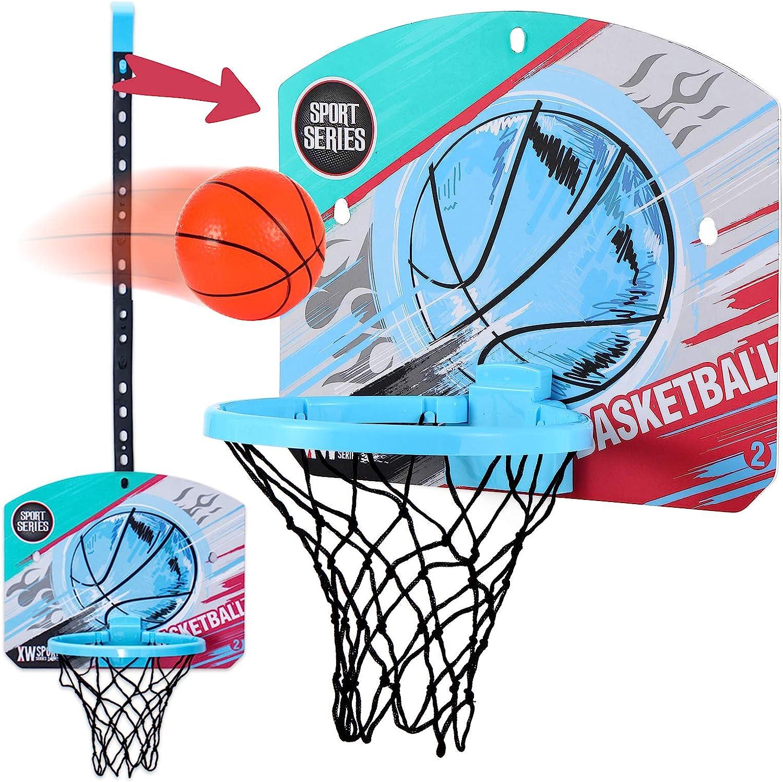 Mini Basketball Hoop Indoor for Kids,Over the Door Basketball Ho
