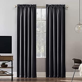 Sun Zero Oslo Theater Grade Extreme 100% Blackout Rod Pocket Curtain Panel, 52