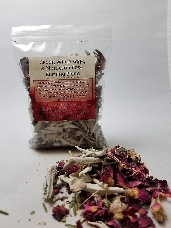 Cedar Spring new work Max 54% OFF White Sage Moroccan Rose Blend Burning