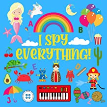 I Spy Everything: Ultimate Fun Educational Guessing Game For Kids Girls Boys ABC Question Answer Puzzle Learning Alphabet ...
