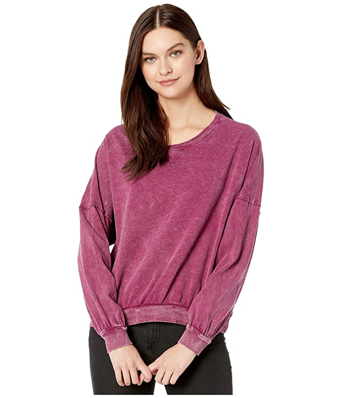 Free People  213 Tee (Wine) Womens Clothing