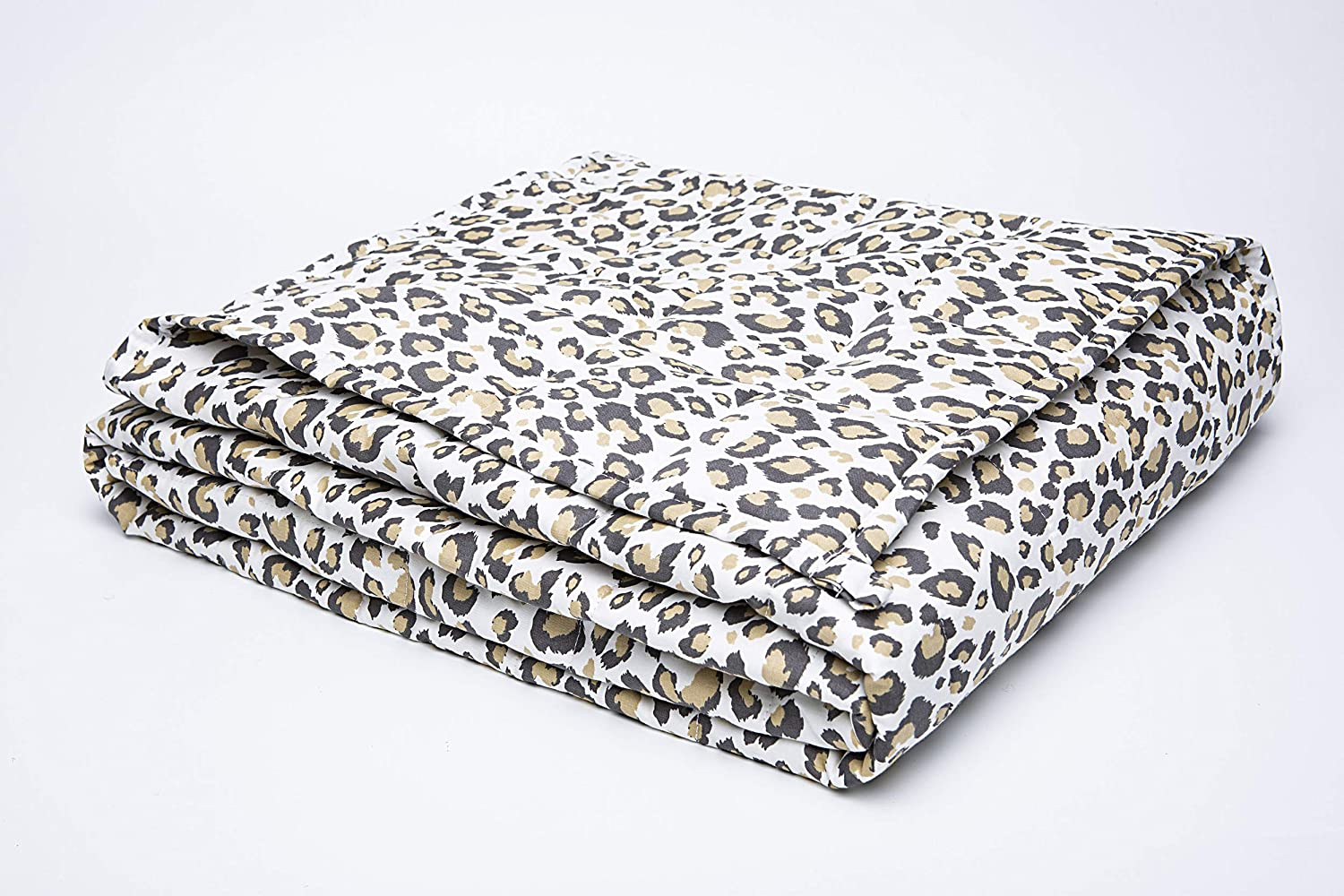 BEDCOLOR Weighted Blanket Heavy Cheap Brown Translated 48×72 Leopard in