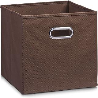comprar comparacion Zeller 14132 - Caja de almacenaje de tela, plegable, 28 x 28 x 28 cm, color marrón