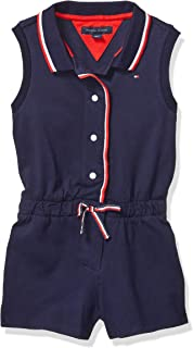 TOMMY HILFIGER Girls' Adaptive Romper with Magnetic Buttons