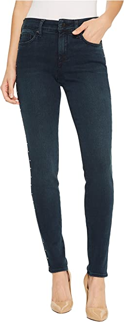 NYDJ Ami Skinny Legging Jeans w/ Studs in Future Fit Denim in Mason