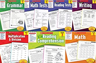 Scholastic Success With - Grade 3 Complete Set (7 books): Multiplication&Division 3, Math 3, Math Tests 3, Grammar 3, Read...