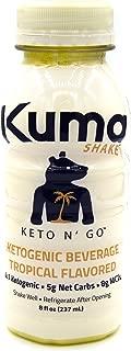 Kuma Shake: Ketogenic Vegan Fat Bomb, Keto n' Go, Low Carb Ready to Drink 5g Net Carbs in 8 fl oz (6 pack)