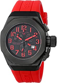Men's 10542-BB-01-RDA Trimix Diver Chronograph Black Dial Red Silicone Watch