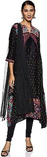 Aurelia Women's Asymmetrical Hemline Salwar Suit Set