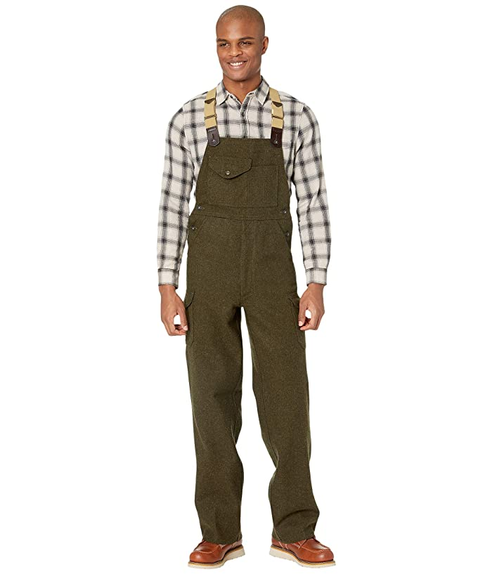Men's Vintage Workwear – 1920s, 1930s, 1940s, 1950s Filson Mackinaw Bibs Forest Green Mens Casual Pants $325.00 AT vintagedancer.com