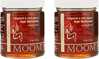 Moom Organic Hair Removal With Tea Tree Refill Jar - 12 oz (Pack of 2)