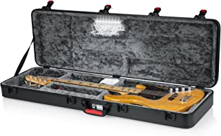 Gator Cases Molded Flight Case for Bass Guitar with Internal LED Lighting and TSA Approved Locking Latch; (GTSA-GTRBASS-LED)