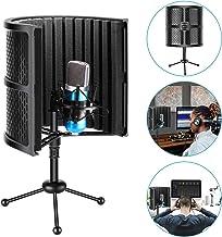 جداول میکروفن جمع و جور Neewer Tabletop Shield Isolation Shield with Tripod Stand، Micro Sound Acumbing Foam برای ضبط صدا در استودیو ، پادکست ، آواز ، آواز ، پخش