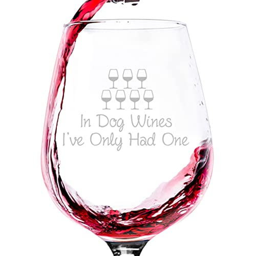 In Dog Wines Funny Wine Glass