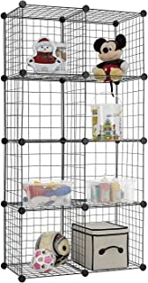 DIY Closet Cabinet by House of Quirk Metal Wire Storage Cubes Organizer (8 - Regular Cube) (35x35 per Cube Size)