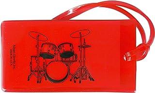 ミュージックIDバッグタグ ドラムセット(レッド)