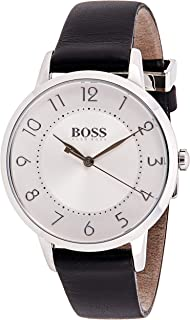 Hugo Boss Women's White Dial Leather Band Watch - 1502408