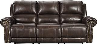 Signature Design by Ashley Buncrana Power Reclining Sofa, Chocolate
