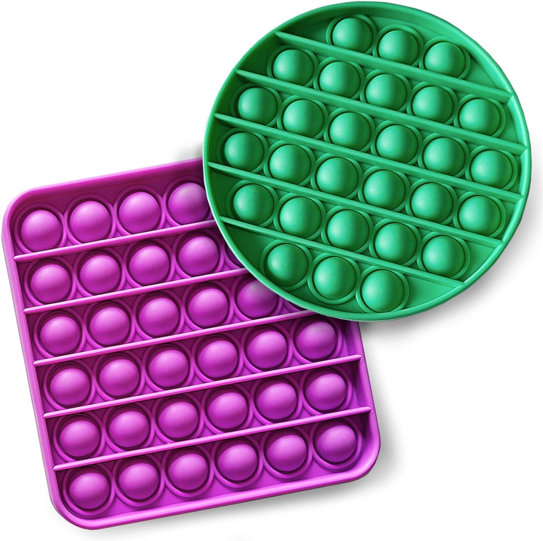 iBaste 2PCS - Push Bubble Sensory To Squeeze Attention brand wholesale Fidget Toy