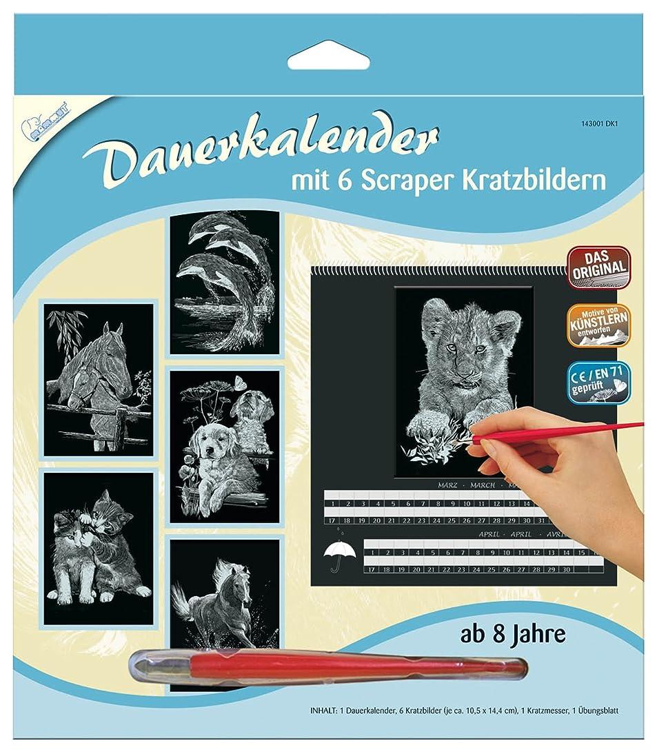 Mammut 143001 - Kratzbild Dauerkalender, Silber - Tiere