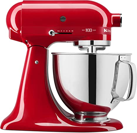 Amazon Com Kitchenaid Ksm180qhsd 100 Year Limited Edition Queen Of Hearts Stand Mixer Passion Red Kitchen Dining