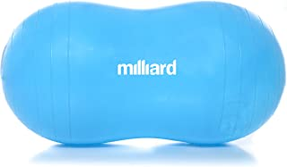 Milliard Anti-Burst Peanut Ball Approximately 31x15 in. (80x40cm) Physio Roll for Exercise, Therapy, Labor Birthing and Dog Training
