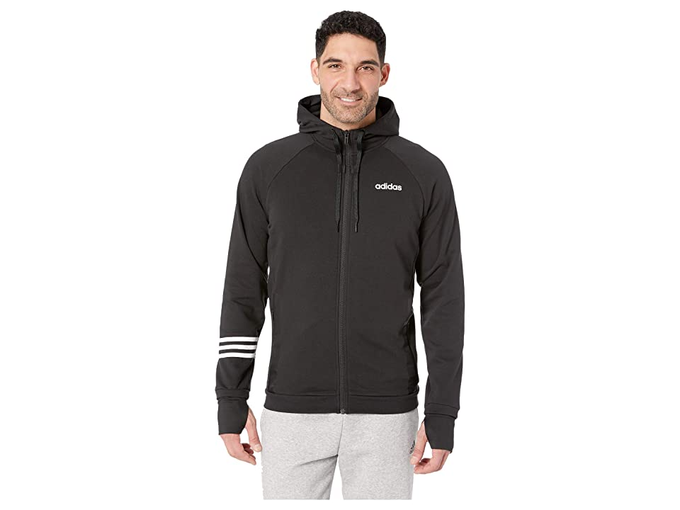 adidas Essentials Motion Pack Full-Zip Track Jacket (Black) Men