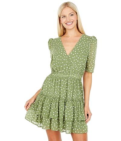 WAYF Smocked Waist Tiered Mini Dress