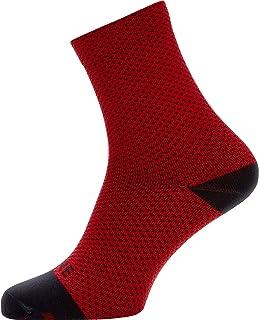 GORE WEAR C3 Calzini unisex da ciclismo, Taglia: 41-43, Colore: Rosso/Nero
