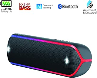 Sony SRS-XB32 EXTRA BASS Portable Bluetooth Compact Party Speaker - Loud Audio for Phone Calls - Black