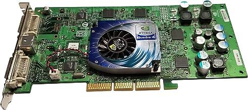 nVidia Quadro 4 980 XGL 980XGL Graphics Video VGA AGP 8X Card DDR 128MB HP 308961-003 313285-001 (Renewed)