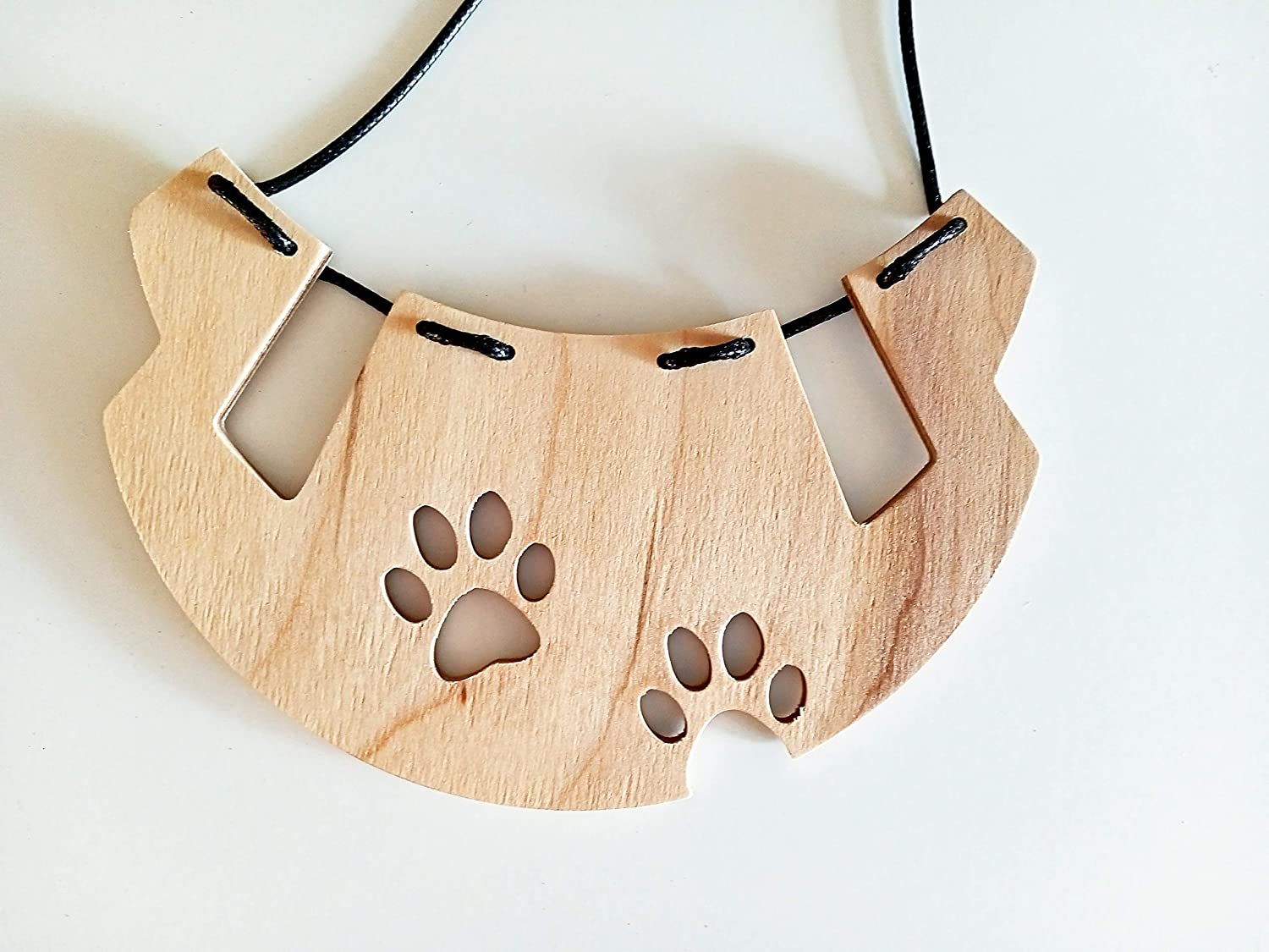 Paw necklace from Plywood Special price Original wom 40% OFF Cheap Sale pet for handmade jewelry
