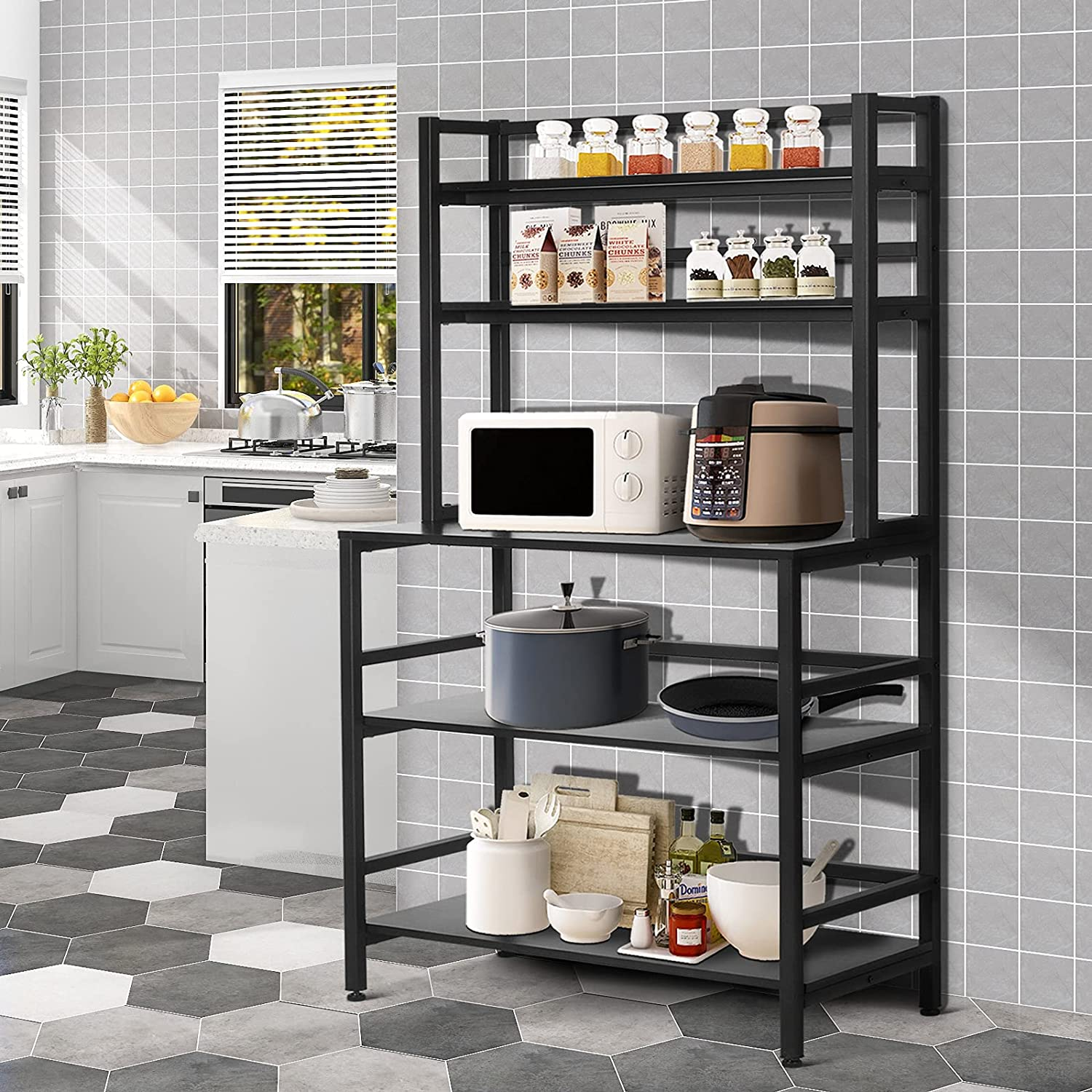 YGBH Ranking TOP20 5-Tier Kitchen Bakers Rack Hutch Coffee Micr with NEW before selling Station